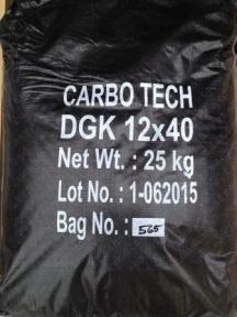 Уголь активированный CarboTech DGK 12*40 mesh 50 л/ 25 кг