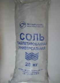 Соль таблетированная (25 кг) меш.